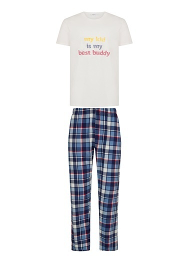 Penti Family Erkek Plaid Pijama Takımı Renkli
